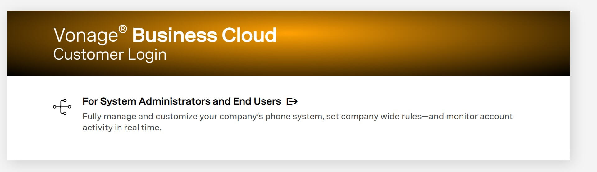Vonage Business Cloud Customer Login