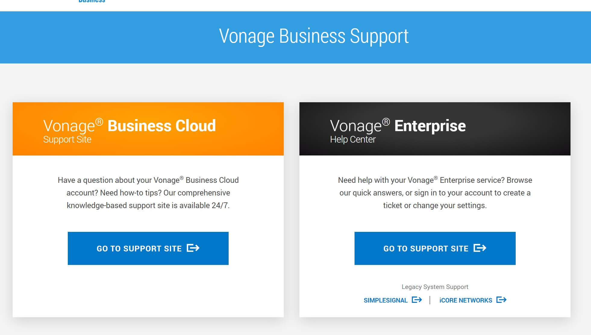 Vonage Business Support