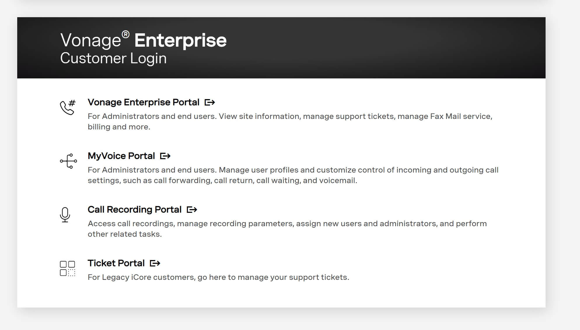 Vonage Enterprise Login